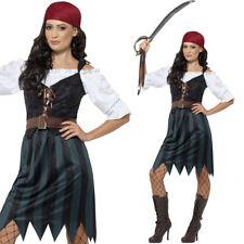 Ladies Pirate Fancy Dress Costume + Bandana