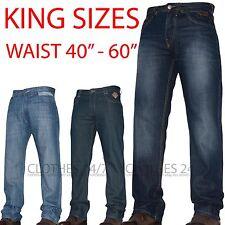 NEW MENS KAM JEANS COMBAT & STARIGHT LEG PANTS ALL WAIST LEG BIG KING SIZE TANK
