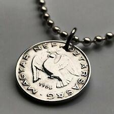72 92 Hungary 10 Filler coin pendant Hungarian dove Magyar Budapest bird n002464