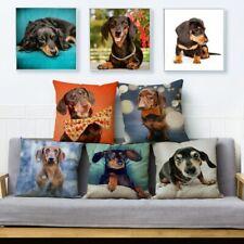Miniature Dachshund Dogs Print Cushion Cover Throw Pillows Home Decor Pillowcase