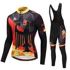 Germany Team Cycling Clothing Kit Men's Long Sleeve Jersey & (Bib) Tights Set