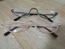 Half Rimless Reading Glasses Outdoor Fashion Sunglasses Half Moon RX