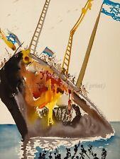 SALVADOR DALI Premium Art Canvas Print ALIYAH On the Shores of Freedom, Israel