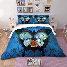 Skull head Butterfly Duvet Cover Pillow Case Twin/Full/Queen/King Bedding Set