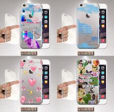 Cover für ,IPHONE,Vaporwave,Silikon,Weiche,Transparent,Emoji,Meme,Wolken,Hearts