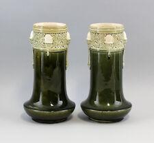 Französisches Paar Vasen Majolika Jugendstil Fives- Lille 99845030
