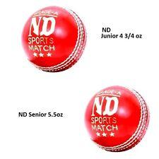 Grade A County Test Match Cricket Ball Red Senior 5.5oz/156gram - Junior 4 3/4oz