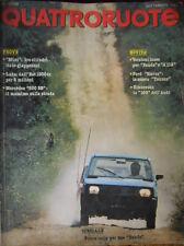 Quattroruote 323 1982 Mercedes500 SE:il massimo sulla strada.Lusso per la Panda