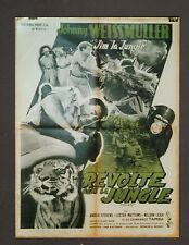 """AFFICHE CINEMA : REVOLTE DANS LA JUNGLE : """"Jim la Jungle"""""""