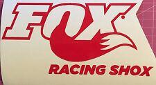 "Fox Racing Shox Logo Vinyl Window Decal Sticker 7"" Choose Your Color"