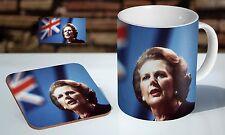 Margaret Thatcher Great Britan Tea / Coffee Mug Coaster Gift Set