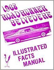 1968  68 ROADRUNNER/BELVEDERE ILLUSTRATED  FACTS MANUAL