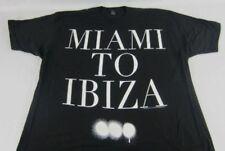 NEW Mens Black Swedish House Mafia Miami to Ibiza Short Sleeve T-Shirt L XL
