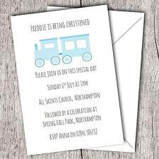 Personalised Invitations ~ Christening ~ Baptism ~ Naming Day ~ Boy (Train)