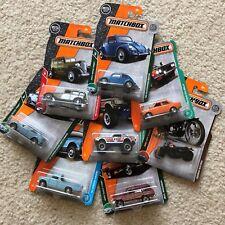2017-2018 Matchbox Cars - Selection - VW Beetle, Wagoneer, Karmann Ghia, Civic
