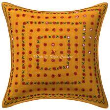 Handmade Bedding Sofa Pillow Case Cover Indian Cotton Throw Mirror Cushion Cover