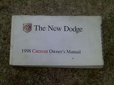 98 Caravan Voyager Owners Manual Book / SHOWS LOTS OF WEAR