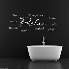 Relax Relajarse REFRESCANTES baño adhesivo pared