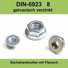 Stahl Verzinkt ZN Mutter DIN 934 8.8 Sechskantmutter ISO 4032 VZ M12