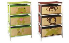Stoffkommode Schubladenkommode Kinderzimmermöbel Frosch Affe Aufbewahrungskorb