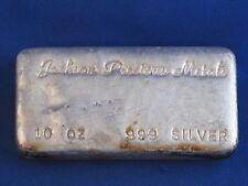 Jackson Precious Metals .999 10 Oz Ingot Poured B4153