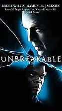 Unbreakable (Vhs, 2001) Bruce Willis Samuel L Jackson Movie