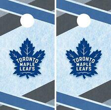 Toronto Maple Leafs Cornhole Wrap Nhl Hockey Game Skin Set Vinyl Decal Co319