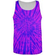 Transgender Tie Dye Blue Purple Pink All Over Adult Tank Top