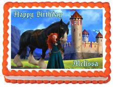 BRAVE MERIDA Princess Image Edible Cake topper sheet