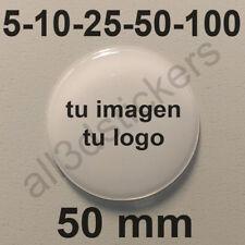 Pegatinas Personalizadas Logo Imagen Resina 50 mm Adhesivos Relieve 3D Negocio