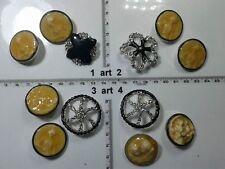 1 lotto bottoni gioiello smalti strass artiigianali buttons boutons vintage g6