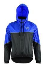 Mens Rain Jacket Waterproof Heavy Duty Hooded Neck Fleeced High Viz Coat S-XXL