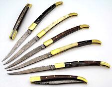 Damastmesser-Laguiole-Taschenmesser-Klappmesser-Damast Messer-Jagdmesser- (RDV4)