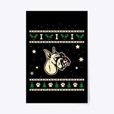 "Christmas Standard Schnauzer Gift Poster - 24""x36"""