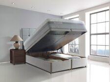 Luxury Biancheria cotone GAS alza letto imbottito Storage Ottoman con testiera