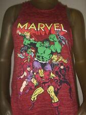 New Juniors Lg Red Marvel Comics Hulk Dare Devil Iron Man Hacci Tunic Top Shirt
