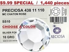 Preciosa Genuine Czech 8faceted Chaton Rose Flatback Rhinestones 10ss ss10 2.8mm