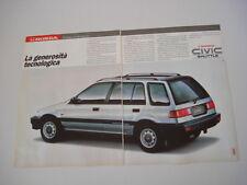 advertising Pubblicità 1989 HONDA CIVIC SHUTTLE