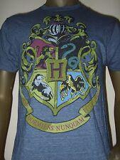 Men's M-L Blue Harry Potter Hogwarts Draco Dormiens Nunquam Titillandus T- Shirt