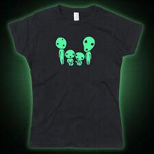 Kodama Family Mononoke inspired Glow in the dark Ladies Tshirt T-Shirt Tee Top