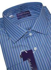 Ralph Lauren Purple Label Aston Stripe Blue Tailored Hemd KW.43,44 & 45
