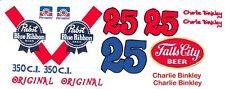 #25 Charley Brinkley 1971 Camaro Falls City PBR 1/24th - 1/25th Scale Decals