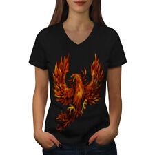 Pheonix Fire Bird Fantasy Women V-Neck T-shirt NEW | Wellcoda