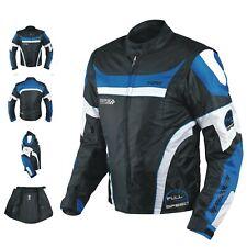 Blouson Oxford Nylon Homme Textile CE Protections Thermique Moto Scooter Bleu