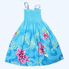 2018  Summer Girls Flower strap Elastic Wedding Bridesmaid Dress Casual K65