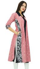 Bimba Printed Cotton Collar Neck Kurti Designer Ladies Kurta Tunic With Pockets