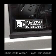 En coche cámara activada por movimiento-ventana calcomanía / señal-Seguridad-Robo