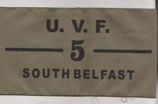 UVF Ulster Volunteer Force Junior  Armband South Belfast Brigade