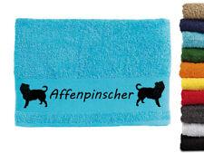 Affenpinscher Hundemotiv Handtuch Hundehandtuch Hunde 100cm x 50cm mit Namen