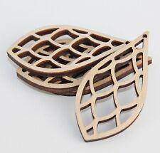 Teardrop Wood Scallop Cutouts Hanging Earrings Jewelry Blanks Craft ALL SIZES